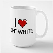 I Love Off-White Mugs