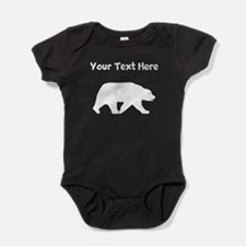 Bear Walking Silhouette Baby Bodysuit