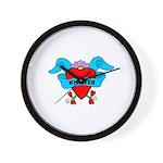 Knitter - Tattoo Heart with B Wall Clock
