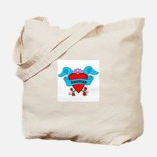 Knitter - Tattoo Heart with B Tote Bag
