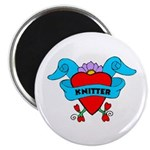 Knitter - Tattoo Heart with B Magnet