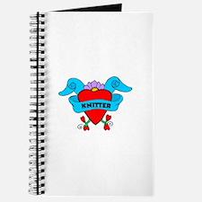 Knitter - Tattoo Heart with B Journal