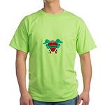 Knitter - Tattoo Heart with B Green T-Shirt