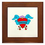 Knitter - Tattoo Heart with B Framed Tile