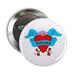 Knitter - Tattoo Heart with B Button