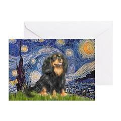 Starry Night Cavalier Greeting Cards (Pk of 20)