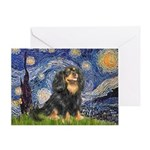 Starry Night Cavalier Greeting Card