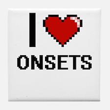 I Love Onsets Tile Coaster