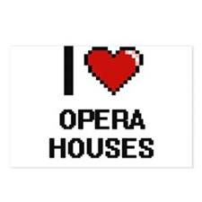 I Love Opera Houses Postcards (Package of 8)