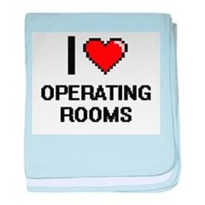 I Love Operating Rooms baby blanket