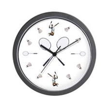 Funny Badminton Wall Clock