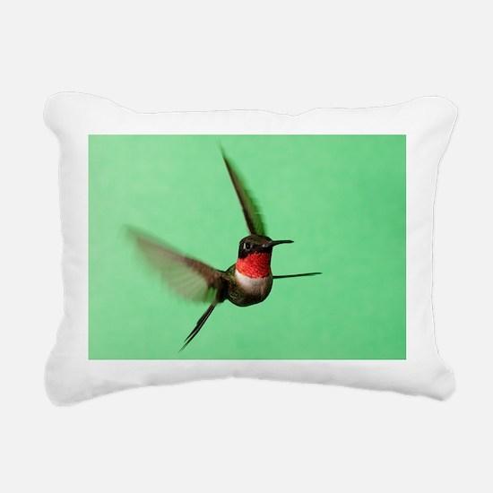 Ruby-Throated Hummingbir Rectangular Canvas Pillow