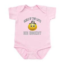 Ice Hockey Smiley Sports Designs Infant Bodysuit