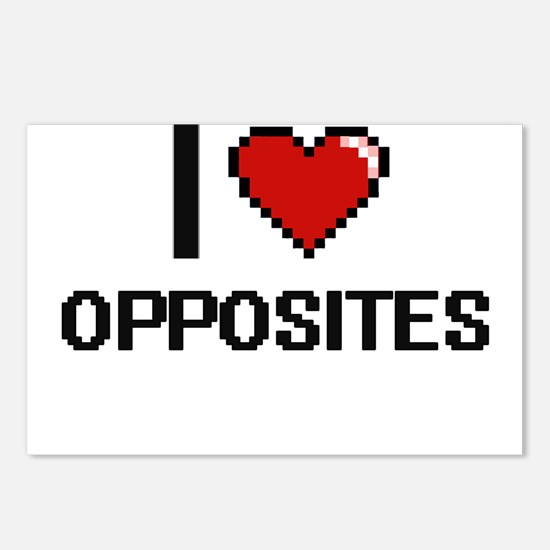 I Love Opposites Postcards (Package of 8)