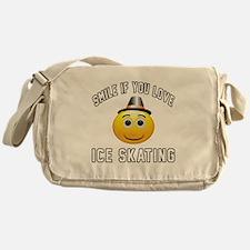 Ice Skating Smiley Sports Designs Messenger Bag