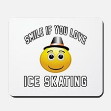 Ice Skating Smiley Sports Designs Mousepad