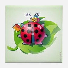 """Lady"" Bug Clear Tile Coaster"