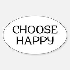 Choose Happy Sticker (Oval)