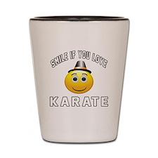 Karate Smiley Sports Designs Shot Glass