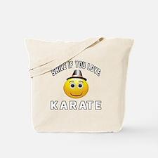 Karate Smiley Sports Designs Tote Bag