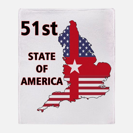 England 51st State Of America Throw Blanket