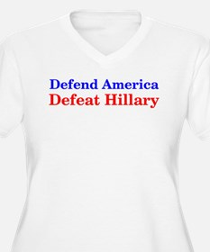 Defend America Defeat Hillary Plus Size T-Shirt