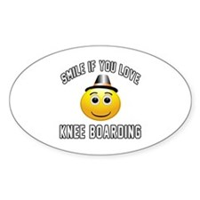 Knee Boarding Smiley Sports Designs Decal