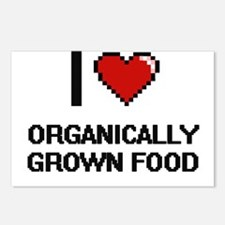 I Love Organically Grown Postcards (Package of 8)