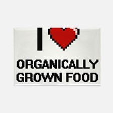 I Love Organically Grown Food Magnets