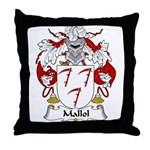 Mallol Family Crest Throw Pillow