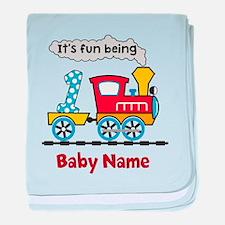 baby 1st Birthday custom add name baby blanket