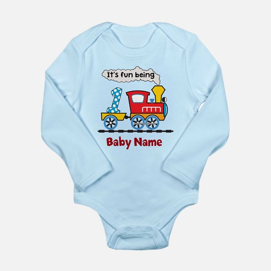 baby 1st Birthday cust Long Sleeve Infant Bodysuit