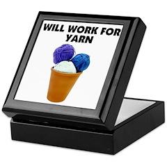 Will Work for Yarn Keepsake Box