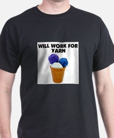 Will Work for Yarn T-Shirt