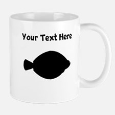 Flounder Fish Silhouette Mugs