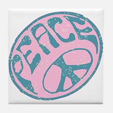 Vintage Peace Sign #V4 Tile Coaster