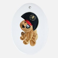 Teddy Pirate Oval Ornament
