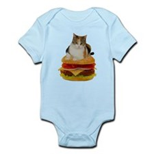 Cat on the hamburger Infant Bodysuit