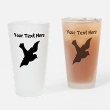Dove Silhouette Drinking Glass