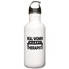 Real Women Marry Therapists Water Bottle