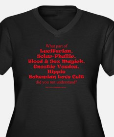 LSL Quote Only Women's Plus Size V-Neck Dark T-Shi
