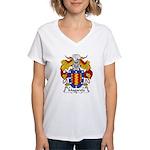 Magarola Family Crest Women's V-Neck T-Shirt