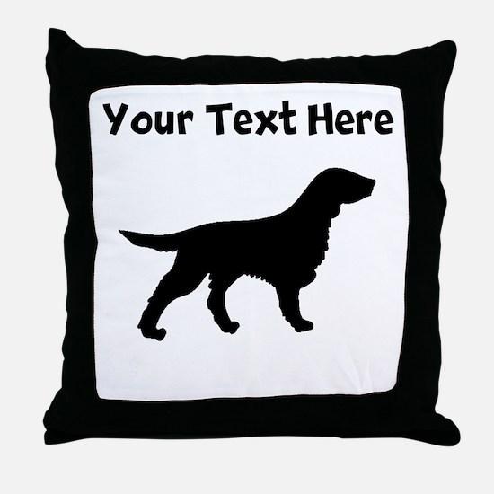 Flat-Coated Retriever Silhouette Throw Pillow