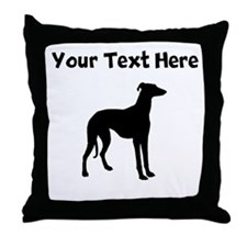 Greyhound Silhouette Throw Pillow