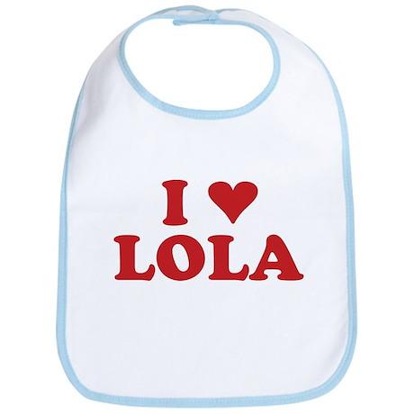 I LOVE LOLA Bib