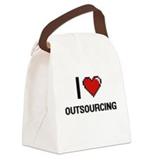I Love Outsourcing Canvas Lunch Bag