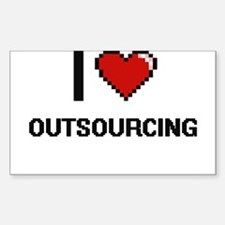 I Love Outsourcing Decal