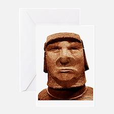Trump Easter Island Head Greeting Card