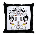 Machin Family Crest Throw Pillow