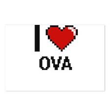 I Love Ova Postcards (Package of 8)